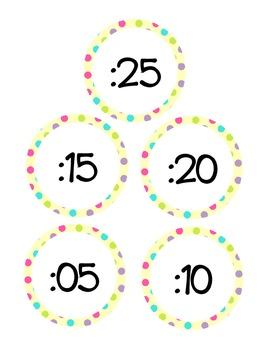 Clock Labels Confetti