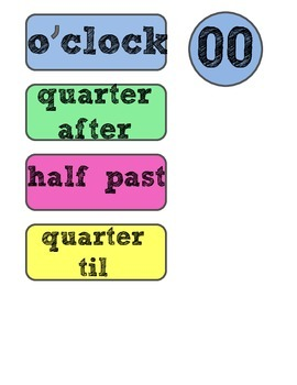 Clock Labels FREEBIE!