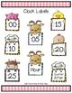Clock Labels Farm Theme