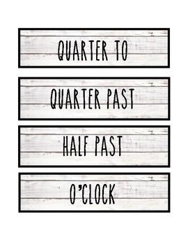 Clock Labels - Farmhouse Shiplap