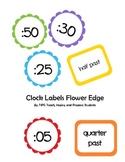 Clock Labels Flower Edge