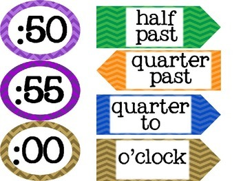Clock Labels {Freebie!}