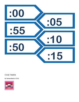 Clock Labels Freebie