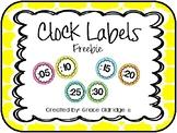 Clock Labels Freebie {Quatrefoil}