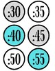 Clock Labels (Grey,Blue, and White)