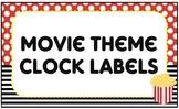 Clock Labels – Movie Theme