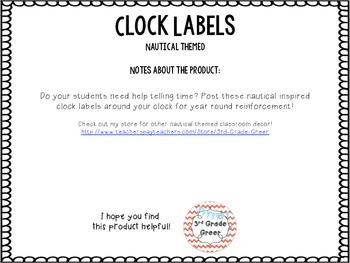 Clock Labels { Nautical }