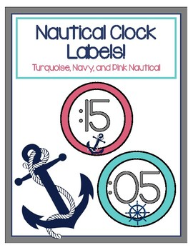 Clock Labels - Nautical