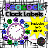 Clock Labels - Classroom Decor - Peacock