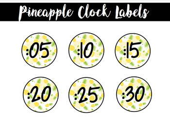 Clock Labels Pineapple
