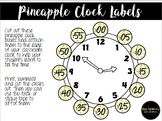 Clock Labels Pineapple