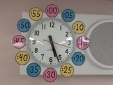 Clock Labels: Plain and Gingham