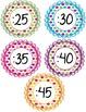 Clock Labels- Polka Dots