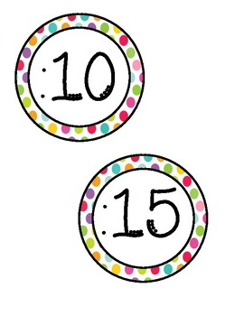 Clock Labels - Rainbow