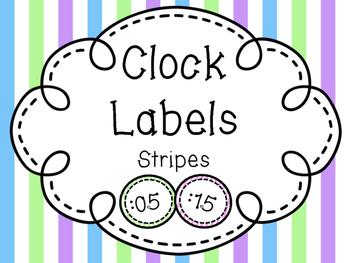 Clock Labels-Stripes