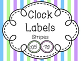 Clock Labels-Stripes