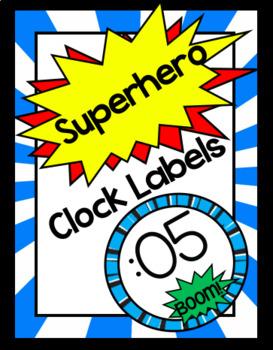 Clock Labels - Superhero