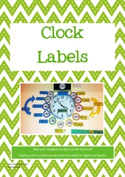 Clock Labels - Time in Words and Digits