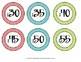 Clock Labels - Turquoise, Red, Lime, Orange