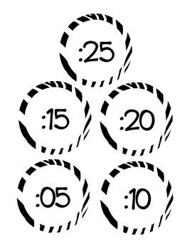Clock Labels Zebra Stripes