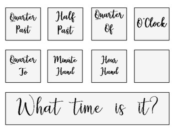 Clock Labels and Numbers- Rae Dunn inspired