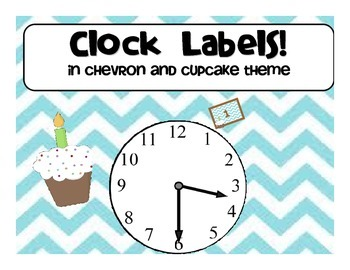 Clock Labels in Chevron and Cupcake theme