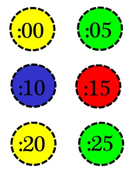 Clock Labels in Primary colors