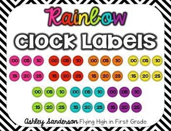 Clock Labels {rainbow}