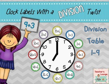 Clock Labels with a Division Twist - Math