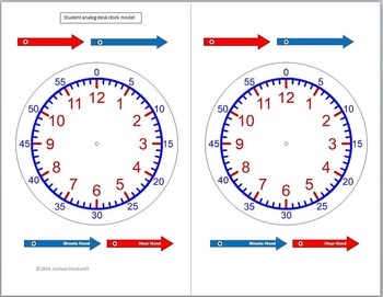 Clock Manipulatives for Teaching Time