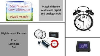 Clock Match - Introduce Time