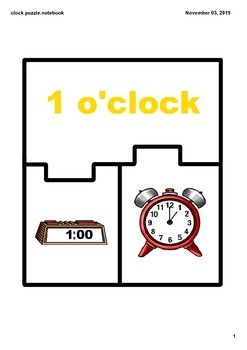 Clock Match Puzzle - The Hour