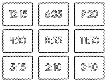 Clock Matching Cards: Telling Time to the Nearest Ten