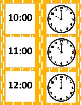 Clock Matching Game