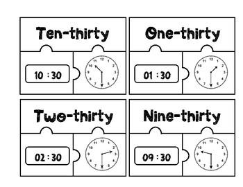 Clock Matching Puzzle