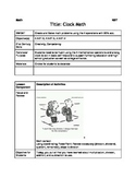 Clock Math - NBT Lesson Plan