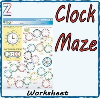 Clock Maze (Drawing hour and minute hand)