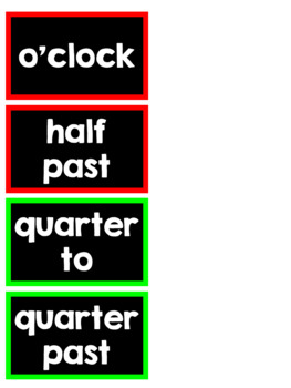 Clock Minute Display Labels-Black and White Backgrounds