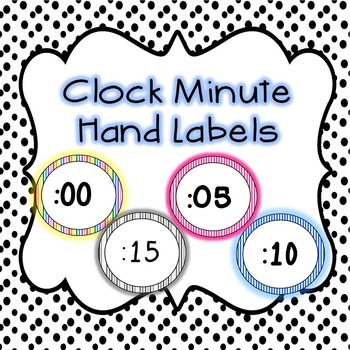 Clock Minute Hand Labels