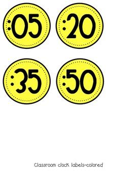 """Clock """"Minute"""" Labels"""