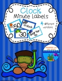 Clock Minute Labels - Under The Sea Theme