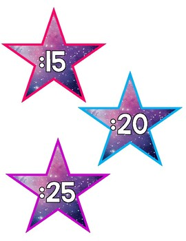 Clock Minute Markers - Star Shape