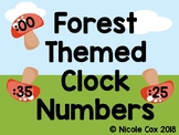 Clock Number Helpers - Woodland Forest Theme