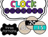 Clock Number Labels