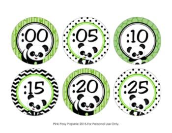 Clock Number Labels Panda Theme