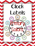 Clock Number Labels-Primary