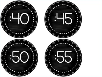 Clock Numbers FREEBIE