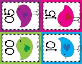 Clock Numbers – Bird Themed