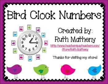 Clock Numbers – Bird Themed