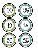 Clock Numbers- Blue and Green
